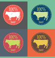natural fresh beef food set vector image