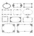 Ornamental design corners set vector image