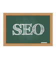 SEO text on chalkboard vector image