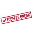 Coffee Break rubber stamp vector image
