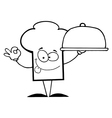 Cartoon chefs hat with food vector image vector image
