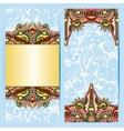 decorative label card for vintage design ethnic vector image