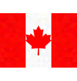 Canada flag on a triangle background Design vector image