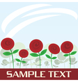 abstract red flowers vector image