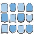 badges blue vector image