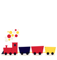 Colorful cartoon Train isolated on white vector image