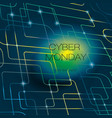 cyber bright background vector image