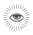 Eye sun symbol vector image