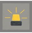 flat shading style icon Win lamp vector image