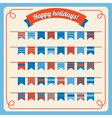 Set of bunting and garland with banners vector image