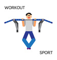 Sportman with sports equipment for street workout vector image