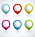 Color web buttons vector image vector image
