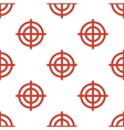 Red Targets seamless pattern vector image