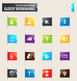 vineyard and wine bookmark icons vector image