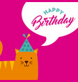monster characters in birthday party vector image