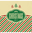 Vintage christmas typographic background vector image vector image