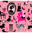 Seamless pattern with glamour accessories furnitu vector image vector image