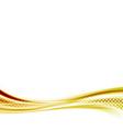 Golden metal speed swoosh abstract wave vector image