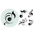 Ornamental music notes vector image