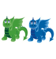 dragons on four legs vector image vector image