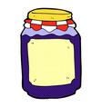 comic cartoon jar of jam vector image