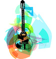 colorful guitar vector image vector image