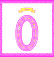 cute children flashcard number one tracing with vector image