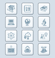 Education icons - tech series vector image