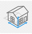 house drawing isometric icon vector image