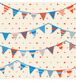 Colorful pattern with bunting and garland vector image