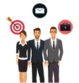 teamwork business people group icons vector image
