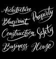 construction hand written typography vector image