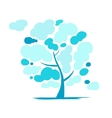 Cloudy tree for your design vector image vector image