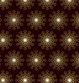 Gold Abstract Flower Pattern and Technology on vector image