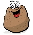 happy potato character vector image vector image