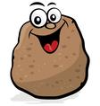 happy potato character vector image