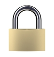 Closed lock isolated vector image