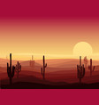 beautiful desert landscape template vector image