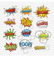 Comic bubbles set vector image
