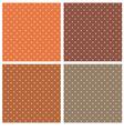 Dark brown polka dots seamless pattern set vector image
