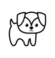 dog little character animal outline vector image