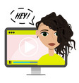 flat blogger video concept vector image