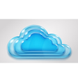 Glass multilayered cloud vector image