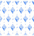 isometric bitcoin line style seamless pattern vector image