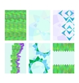Set of cards with abstract images vector image