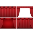 ter curtains vector image