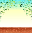 wall leaves sky vector image