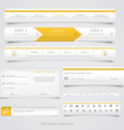 Web site navigation menu pack 3 vector image