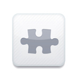 white puzzle icon Eps10 Easy to edit vector image vector image