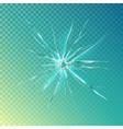 Crack on window or glass shattered screen vector image
